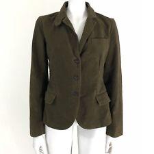 J. Crew Women's Size Medium Brown Soft Cotton Jacket Blazer