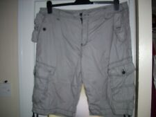 F&Fmen's striped cotton shorts with leg pockets.Size 40 inch waist.Free Postage!