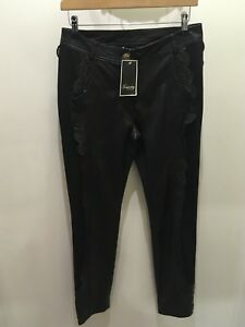 Stunning Leather & Fabric Temperley Trousers New With £525 Tag Attached
