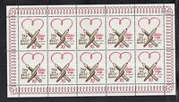 "A 31 ) Germany 2016  Day of the stamp ""Love Letters""  Sheet 10 MNH Stamps"