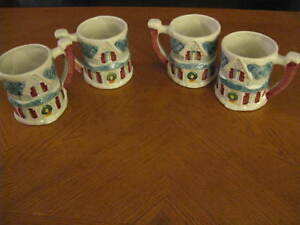 Set of 4 Claire Burke Christmas Mugs Holiday House