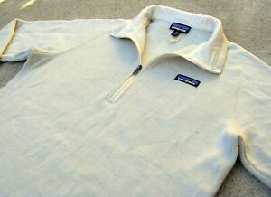 PATAGONIA Better Sweater pullover fleece Jacket women's Sz XL Cream