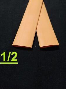 "1/2"" inch 12.7mm ORANGE  2:1 heat shrink tubing polyolefin (1 FOOT)"