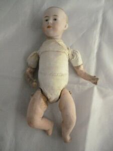"""Antique closed mouth pouty character baby doll 9.5"""" head OK body A/F"""