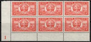"""New Zealand. 1936. Health. """"Life Buoy"""". Plate Block 1. MUH."""