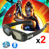 2x Blue-tooth Active 3D Glasses for EPSON 3LCD Projector Panasonic Sharp 3D Tvs