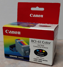 Genuine Canon BCI-61 Color Ink Cartridge Cyan Magenta Yellow  ~ Free Shipping