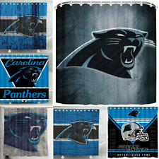 Carolina Panthers Team Design Waterproof Shower Curtain Bathroom Accessory Set