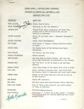 1972 FIBBER MCGEE AUTOGRAPHS JOHNSON WAX CELEBRITY GUEST LIST SIGNED