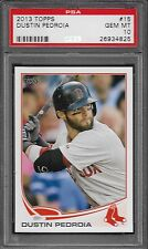 2013 Topps # 15 DUSTIN PEDROIA Mint PSA 10 Boston Red Sox World Series Champs