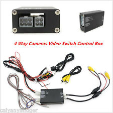 4 Way 360° Parking View 4 Cameras Video Image Split-Screen Control Box Converter