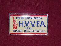 VINTAGE PIN PINBACK 1992 HVVFA HUDSON VALLEY VOLUNTEER FIREMAN'S ASSOC 103 CONV