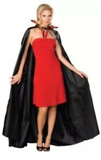 "SPOOKY VILLAGE LONG SATIN  CAPE 60"" ADULT) ONE SIZE Rubie's 16204 Black"