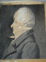 att. BOUCHARDY DESSIN PORTRAIT HOMME EMPIRE PHYSIONOTRACE GRAND TRAIT 1815