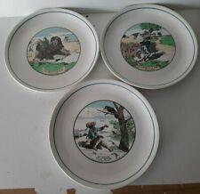 Lot 3 assiettes Jean de la fontaine Moulin des loups Orchies 24 cm