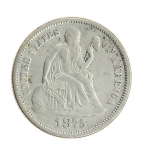 1875-S Seated Liberty Dime VF Very Fine JO/250