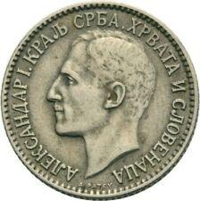 Yugoslavia Alexander 1 Dinar 1925 Silver Jugoslawien NICE COIN