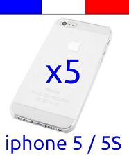 x5 Coque transparente de protection plastique rigide crystal pour iphone 5 5S
