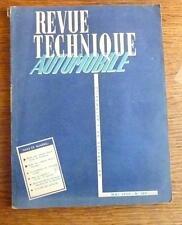 RTA  ETUDE SIMCA MONTE CARLO ET VENDOME 1955  Boites Pont-a Mousson Equipt 4 CV.