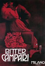 Poster Bitter Campari Milano Italy Risque Drink  Print
