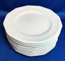 Rosenthal MARIA White 12-Sided Dessert Pie Plate Set of 10 Classic Rose Germany