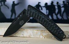 Master Ballistic Black Spring Assisted Tactical Survival Knife w Belt Clip 37BK