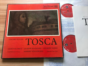 *TAS* RCA RE 5507 / 08 PUCCINI - TOSCA *PRICE / STEFANO / KARAJAN* 2 LPs EX+