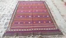 5'1 x 8 Best Handmade Vintage Afghan Tribal Qalaino Wool Persian Area Kilim Rug