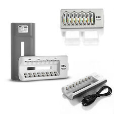 EBL 8 Bay Rechargeable Smart Battery Charger for AA AAA Ni-MH/Ni-CD Batteries US