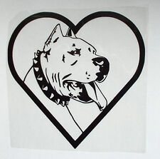 "Sticker PITBULL Adesivi Car-Styling JDM OEM ""I LOVE MY DOG"""