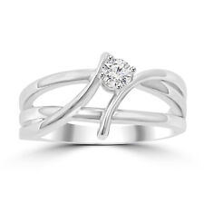 Anniversary Wedding Band Ring Platinum Auction 0.25 ct Ladies Round Cut Diamond