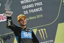 Romano Fenati mano firmato FOTO 12X8 VR46 TEAM KTM MOTO3 2015 12.