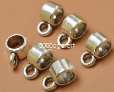100pcs Tibetan Silver Connectors Bails fit charm European bead bracelet A3490