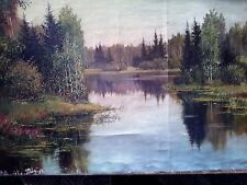 Art oil paint hand made original signed without  frame