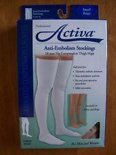 Activa, Anti-Embolism Stockings, H5201, Small, Thigh High, Beige, 18 mmHg, New