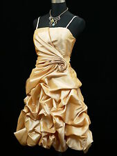 Cherlone Satin Ivory Boho Prom Evening Party Cocktail Ball Gown Dress Size 20-22
