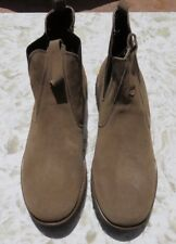 Chubasco Hand Made Men's Beige Mid-Top Shoes - Natural Leather NEW!  SIZE 10