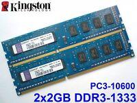 4GB 2x2GB DDR3-1333 PC3-10600 1333MHz KINGSTON K1N7HK-HYC PC DESKTOP SPEICHER