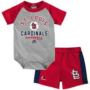 Baseball MLB Infant St. Louis Cardinals Fan Favorite Creeper & Shorts Set
