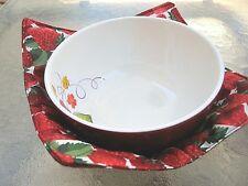 Reversible Safety Microwave Bowl Holder Pot Holder Handmade New  Made in US