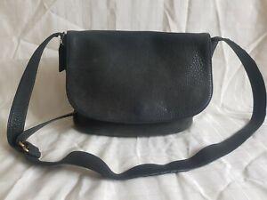 Coach Real Soft Leather Dark Green Side Bag Medium sized