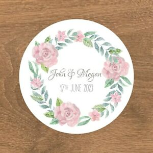 Personalised Wedding Stickers Favour Labels (E-003)