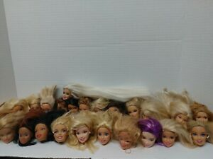 BARBIE DOLL HEAD LOT OF(24)ONLY FOR REPLACEMENT #8