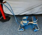 Vintage Taylor Tot Scooter Cart Rare Hooded Airflow Fenders Blue Wood 1950's