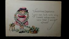 Vintage VALENTINE GREETING Post Card UNUSED You can look into my heart whenever
