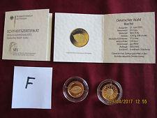 20 Euro Buche Deutscher Wald  F = Stuttgart  GOLD 2011 mit Zertifikat