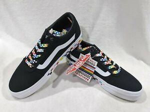 Vans Women's Ward Pride Black/Multicolor Canvas Skate Shoes - Assorted Sizes NWB