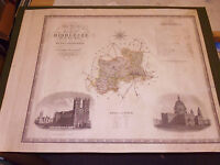 100% ORIGINAL LARGE MIDDLESEX  MAP BY GREENWOOD C1834 ORIGINAL COLOUR