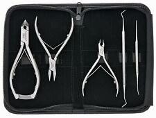 Colvital Podologie Set 5-tlg. Kopfschneider 2 Spitzen Eckenzange Hautzange Etui