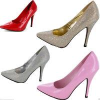 New Womens Mens Drag Queen Crossdresser High Heel Platform Court Shoe Large Size